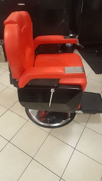 RED  leather cushion barbers chair Amityville, 11701