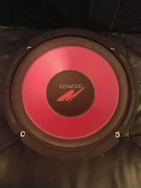 "black and red 10"" Kenwood subwoofer Annandale"