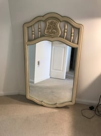 White wooden framed wall mirror - perfect condition  Rockville, 20852