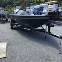 black water boat and black Tracker boat trailer Boiling Springs, 29316