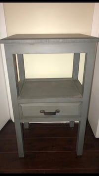 Grey wooden single-drawer end table Los Angeles, 90025