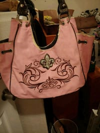 brown and black leather tote bag Cookeville, 38501