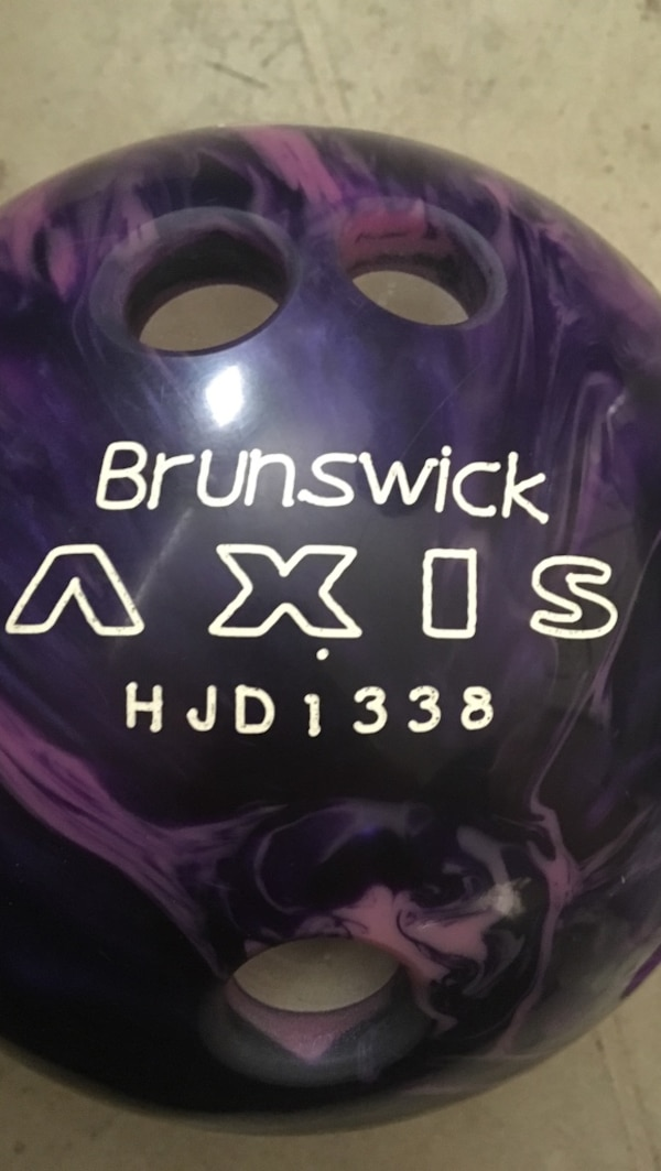 purple Brunswick bowling ball