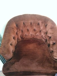 brown and black suede cuddle chair Pico Rivera, 90660