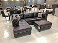 Sectionals with ottoman $749 $39 down no credit check financing  Roslyn Heights, 11577