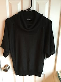 Medium cowl necj black sweater short sleeve -$8 538 km