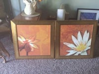 two gold framed paintings of flowers Bakersfield, 93307