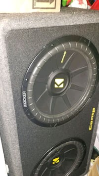 "12"" kicker comp c subs and kicker box Alexandria, 22309"