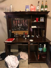 black wooden single pedestal desk Tallahassee, 32304