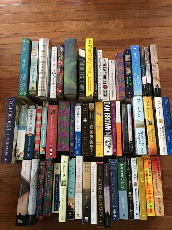 58 Hard/Soft Cover Books