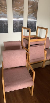 two brown wooden framed white padded armchairs 哈利法克斯, B3M 4M2