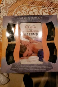 Hot stone and aromatherapy massage kit and book