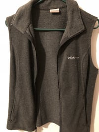 gray Columbia suede zip-up vest Rome, 30165