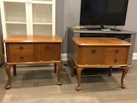Two brown wooden side tables Toronto, M6G 3T1
