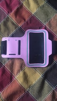 Pink iPhone workout case