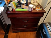 "Little nightstand or office bookshelf - Ashley Furniture, cherry finish, 27"" high x 26"" wide x 16"" deep NEWYORK"