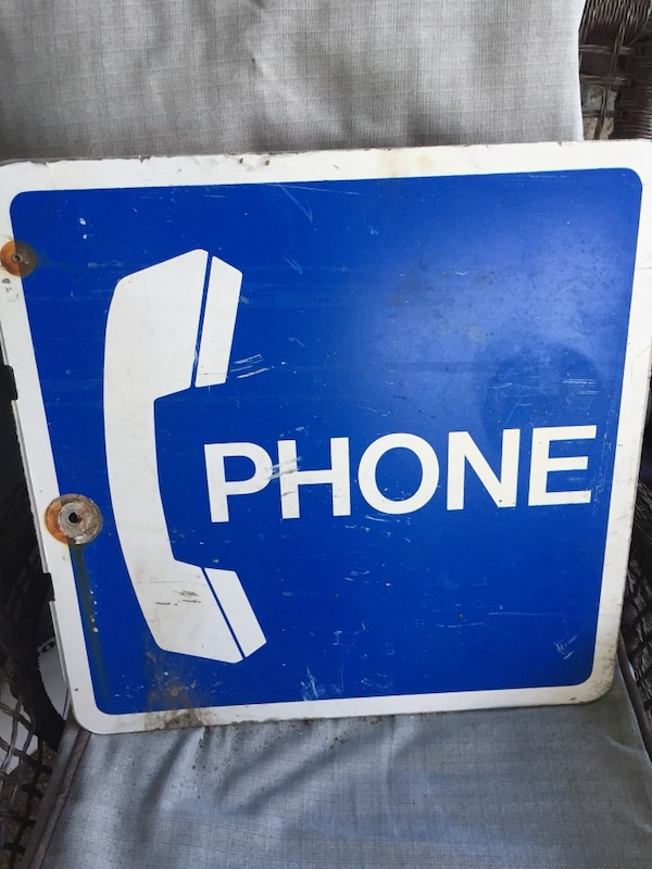 Metal Phone Booth Sign