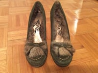 REAL RABBIT FUR HEELS - SIZE 9 Mississauga, L4V