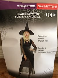 Bewitched witch costume size(S)with hat Coquitlam