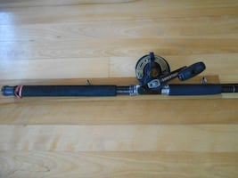 Heavy fishing rod and reel Orleans, 9 footer nice