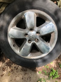 Dodge rims w/tires South Houston, 77587
