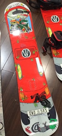 red-white-and-gray snowboards 3734 km