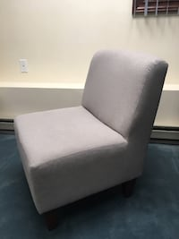 Armless Slipper Accent Chair - Taupe Boston