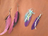 Handmade feather earings Fort Myers