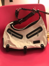 white and black leather shoulder bag Schaumburg, 60193