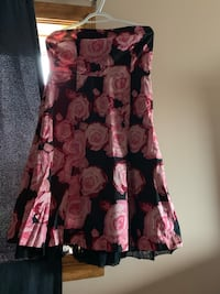 Sweetheart strapless floral printed dress Fort Erie, L2A 4M8