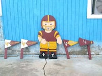 Falcon football player and flags Los Fresnos, 78566