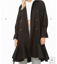 """New with tags. """"Cq by Cq"""" branded heavy ruffle coat. Tag says M, fits like a L. Chantilly, 20152"""