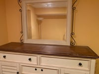 Cream colored dresser with mirror Bowie, 20721