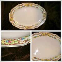 white, yellow, and green floral ceramic plate Quincy, 62301