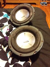 two black-and-white subwoofers Halifax, B3R 1X4
