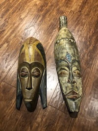 Wall decoration- hand carved masks