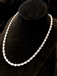 Thick silver dipped rope chain 24inch Surrey, V4N 0L4