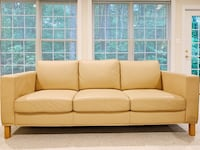 Beige Leather Sofas Fairfax, 22030