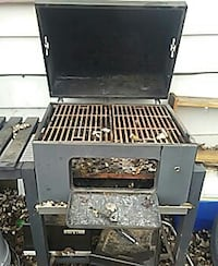 black and gray charcoal grill