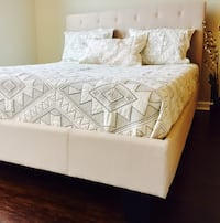 New Ivory Tufted Queen Bed  Silver Spring