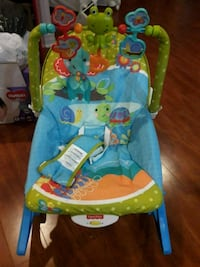 baby's blue and green Fisher-Price bouncer Brampton, L6W 2A7