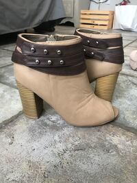 Brown Studded Booties. Size 8 Thibodaux, 70301
