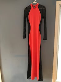 Tangerine & Black Long sleeve Maxi Dress Fairfax, 22030