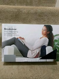 Brand new: Brookstone massage lumbar pillow Fairfax County, 22182