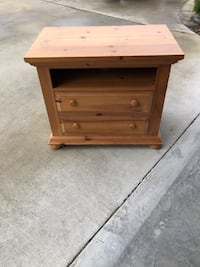 brown wooden 2-drawer TV STAND can be used as night stand or microwave stand  Cleveland, 37323