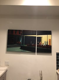 Famous Diner 3 Piece Painting  Los Angeles, 90017