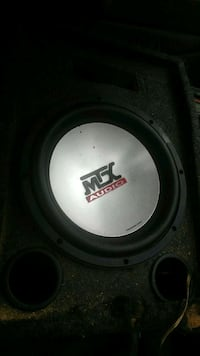 black and gray MTX Audio subwoofer High Point, 27260