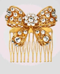 Versace V Bow Hair Comb - SHIPPING ONLY