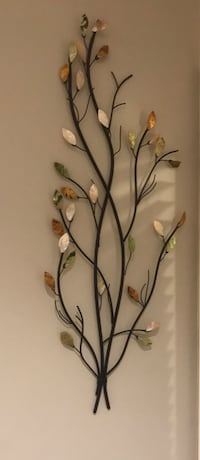 Black and brown floral wall decor. Metal and glass Surrey, V3S