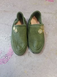 pair of green slip-on shoes Houston, 77082